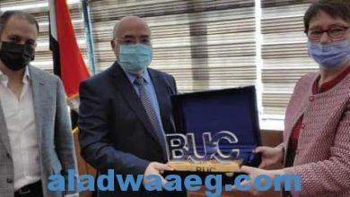 """صورة رئيسة البنك الأوروبى فى زيارة لـ""""جامعة بدر"""" لبحث سبل التعاون"""