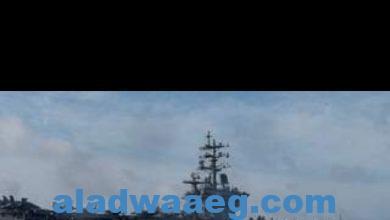 """صورة حاملة الطائرات الأمريكية """"دوايت دي أيزنهاور"""" عبرت قناة السويس في طريقها إلى الخليج"""