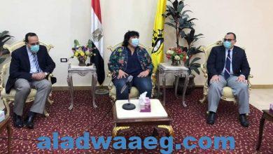 صورة وزيرة الثقافة تلتقى محافظ شمال سيناء بالعريش
