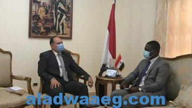 صورة السفير المصري في كوناكري يلتقي مع مدير عام وكالة تنمية الاستثمار في غينيا