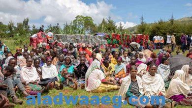 صورة ترتيبات لترحيل اللآجئين الإثيوبيين إلى معسكر المفوضية لشئون اللآجئين