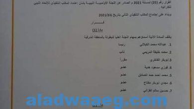 صورة قرار رئيس الاتحاد العام الليبي للكاراتية بشان تكليف اللجنة العليا لبطولة المنطقة الشرقية