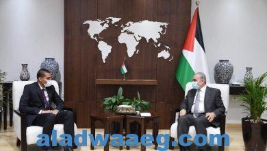 صورة اشتية يستقبل السفير الهندي الجديد في فلسطين