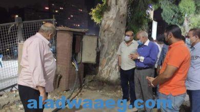 صورة جولة ميدانية لمحافظ الجيزة حتي الساعات الأولى من صباح يوم الجمعة