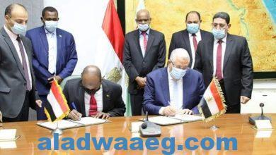 صورة وزير الزراعة يلتقي وزير الثروة الحيوانية السوداني في ختام زيارته للقاهرة