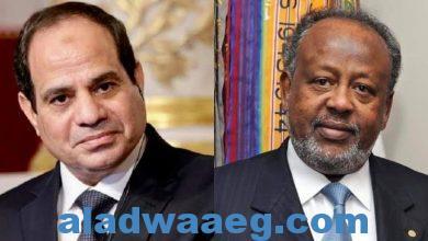 صورة الرئيس السيسي في جيبوتي ولقاء قمة مع الرئيس إسماعيل جيلة