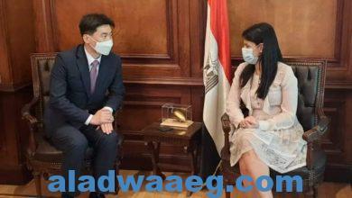 صورة وزيرة التعاون الدولي تستقبل بعثة بنك التصدير والاستيراد الكوري