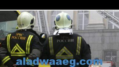 صورة مصرع 3 أشخاص بحريق فندق في موسكو