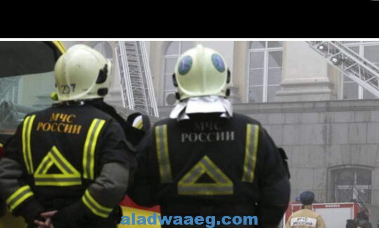 مصرع 3 أشخاص بحريق فندق في موسكو