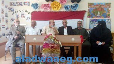 """صورة تكريم """"عبدالغفار نور الدين"""" لبلوغه سن الوفاء"""