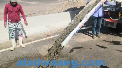 صورة معالجة هبوط أرضي بالكيلو 30 شمال مرسى علم
