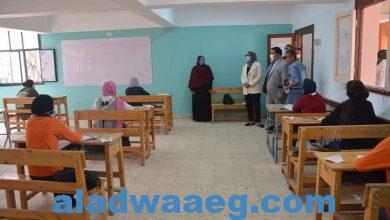 صورة نائب محافظ الوادي الجديد تتابع سير امتحانات الدبلومات الفنية بالخارجة