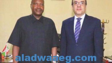صورة وزير الزراعة والبيئة والري البوروندي يستقبل السفير المصري في بوجومبورا