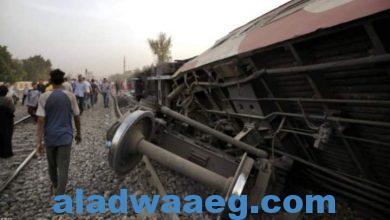 صورة إستمرار نزيف الدم على قضبان سكك الحديد المصرية.،،