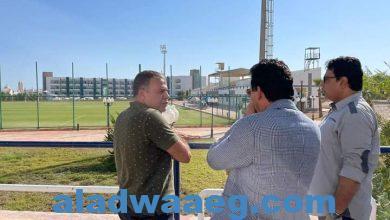 صورة وزير الشباب والرياضة يقوم بجولة تفقدية لأعمال تطوير المدينة الشبابية والرياضية بشرم الشيخ