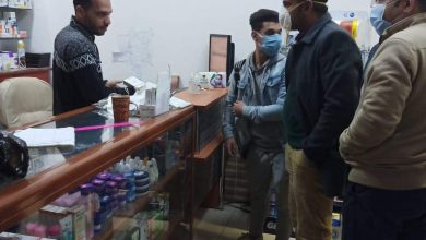 صورة تحرير 22 محضر لمخالفة ارتداء الكمامة بمركز المنيا، و حملة لرفع الاشغالات بطريق عزبة صادق قلينى