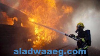صورة اندلاع حريق بالدقي