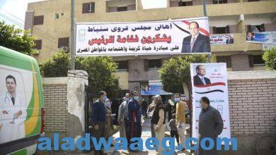 صورة الدكتور طارق رحمي يتفقد القافلة الطبية متعددة التخصصات بسنباط مركز زفتى
