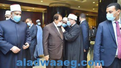 صورة أبو العينين يلتقي وزير الأوقاف ووكيل الأزهر على هامش مؤتمر حوار الأديان والثقافات