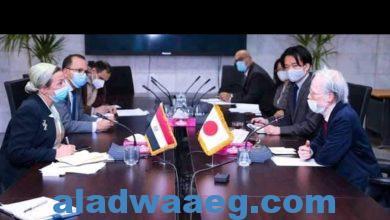 صورة وزيرة البيئة تلتقى السفير الياباني بالقاهرة لبحث سبل التعاون بين البلدين