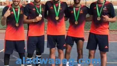 صورة الجامعة المصرية الروسيةتفوز بالمركز الأول فى بطولة الكرة الخماسية