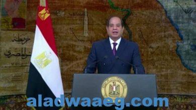 صورة الرئيس السيسي يوجة كلمة بمناسبة عيد تحرير سيناء