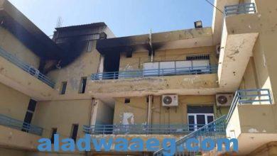 صورة الكنين يوجه بتقديم الجناة في حريق مبنى الإستثمار لمحاكمات عاجلة