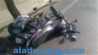صورة مصرع عامل وإصابة شقيقه في حادث سير بأخميم في سوهاج
