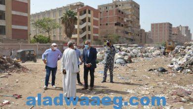 صورة محافظ القليوبية يتابع إزالة 120طن من القمامة بالخصوص