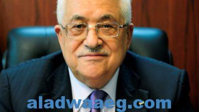 صورة الرئيس الفلسطيني يتلقى اتصالا هاتفيا من الوزير اللبناني السابق غازي العريضي