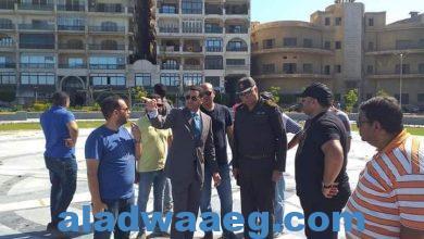 صورة نائب محافظ بورسعيد و مساعد رئيس الشركة الوطنية المصرية للرخام و الجرانيت يتفقدان الأعمال الجارية بساحة مصر
