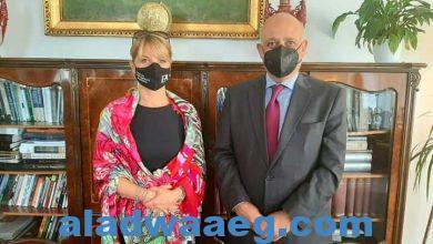 صورة السفير المصري في بودابست يلتقي بعدد من المسئولين المجريين