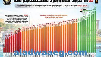 صورة بالإنفوجراف…  وسط إشادات دولية بالتعامل المصري مع الأزمة بفضل السياسات المرنة والاستراتيجيات الحكيمة