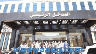 صورة تشغيل تجريبي لعدد ١٥ عيادة تخصصية بمستشفى سوهاج الجامعي الجديدة.