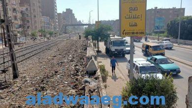 صورة مغاوري وحملات نظافة مكبرة بحرم السكة الحديد