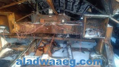 صورة إندلاع حريق فى مصنع خشب بسنانية دمياط