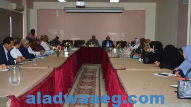 صورة رئيس شركة مياه الشرب بالفيوم يلتقي برؤساء القطاعات ومديرى العموم.