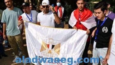 صورة سفينة النيل للشباب العربي تصل المنيا بمشاركة شباب ١٥ دولة عربية.